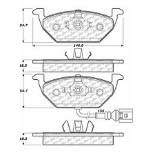Disc Brake Pad-Posi-Quiet Metallic (Front) Centric / fits '99-'15 VW Beetle