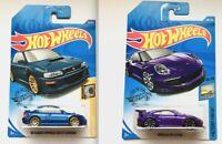 Hot Wheels SET of 2 Cars SUBARU IMPREZA 22B STi + PORSCHE 911 GT3 RS Brand NEW