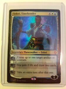 FOIL Teferi Timebender NM/Mint MTG pack fresh mythic rare Dominaria planeswalker