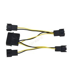 4pin Molex to 4x 3pin Connector extension Power Cable For PC Case Fan Radiator