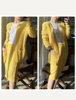 ESCADA / Féraud Knit & Silk Cardigan & NWT Silk Pencil Skirt Size Medium 38 & 40