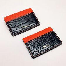 Handmade Crocodile/Sheep Skin Credit Card Name Card Holder Free Shipping