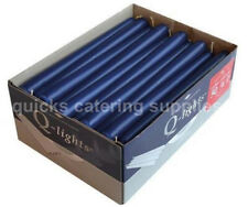 More details for dark blue tapered candles 7.5 hours 245 x 23mm restaurant catering pack of 50
