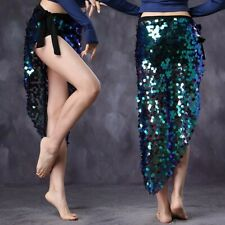 Belly Dance Triangle Hip Scarf Egyptian Sequin dress squama Wrap Mermaid skirt