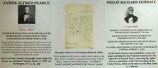 CIVIL WAR PRO CONFEDERATE FUGITIVE SLAVE ACT US SENATOR MD PIERCE LETTER SIGNED!