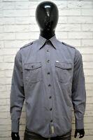 Camicia Grigia CAMEL ACTIVE  Uomo Taglia M Maglia Manica Lunga Shirt Man Grey