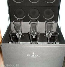 Waterford LISMORE ESSENCE Champagne Flutes Set of 6 Boxed NEW