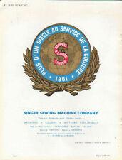 Publicité SINGER machines a coudre  moteurs electriques