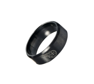 New Tennessee Titans Black Stainless Steel Engraved Ring Sizes 8 9 10 11 12 13