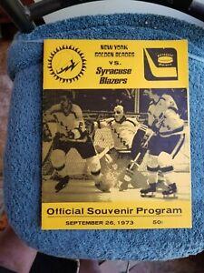 9/26/73 NEW YORK GOLDEN BLADES VS SYRACUSE BLAZERS NHAL HOCKEY MORENZ, HOWELL