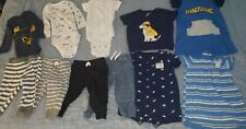 Carter's Baby Boy Clothes Lot of 11 pcs 6 months Bodysuits Pants Rompers