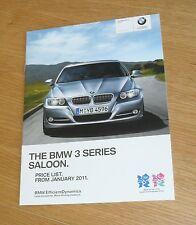 BMW 3 Series E90 listino prezzi 2011 M Sport Plus esclusivo 318d 320d 325d 330d 335d