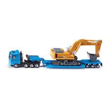 Siku 1847 MAN TGA trasporto pesante blu con rimorchio ribassato + Scavatrice