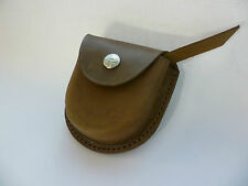 Axe sharpening stone, belt leather pouch, camping, survival, hunting, Australia.