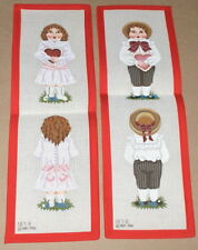 Melissa Shirley Victorian Valentine Boy & Girl Handpainted Needlepoint Canvases