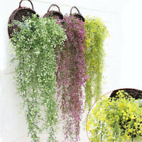 Artificial Fake Silk Flower Vine Hanging Garland Home Garden Plant Wedding Decor