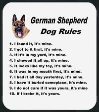 Dog Mouse Pad - Dog Rules German Shepherd - Adopt Animal  Men Women # 58