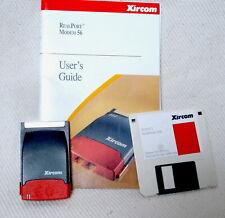 Xircom Rm56V1 Realport Modem Pcmcia Laptop Cardbus Adapter + Disc+Instructions