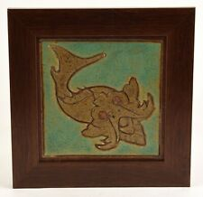 "MUELLER MOSAIC COMPANY TILE 6"" BY 6"" ARTS AND CRAFTS ERA KOI FISH"