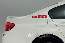 POWERED BY RACING Vinyl Decal sticker emblem sport speed car logo RED
