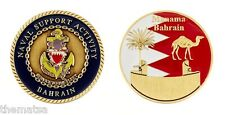 "NAVAL SUPPORT ACTIVITY BAHRAIN MANAMA BAHRAIN 1.75"" MILITARY CHALLENGE COIN"