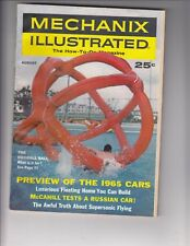 1964 MECHANIX ILLUSTRATED - 1965 CARS PREVIEW, SUPERSONIC TRANSPORT /q4