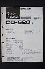 Pioneer cd-620 UC Electronic CROSSOVER réseau Manuel de service/Amplificateur
