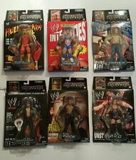 Superstars Uncovered Jakks WWE COMPLETE SET - Kurt Angle / Hulk Hogan / The Rock