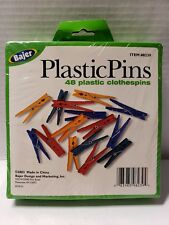 Bajer Design 48 Plastic Clothespins Pins, multi color #1095