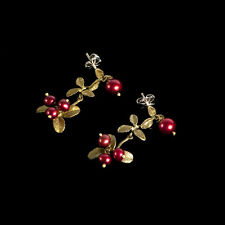 Michael Michaud - Cranberry Earrings - Dangle - Silver Seasons Jewelry