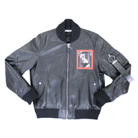 Givenchy Patched Leather Bomber Jacket In Black RRP £2375 *SOLD OUT WORLDWIDE🌍*