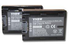 2x BATTERIE 500mAh POUR Sony NP-FH40 / NP-FH50 / NP-FH70 / NP-FH100