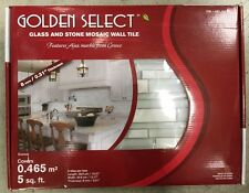 Golden Select Glass & Stone Mosaic Wall Tile 0.465 sq meters 5 sq ft Ajax Marble