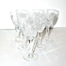 SAINT-LOUIS Série 6 verres à liqueur LOTHAIRE SL Verres à pied en cristal taillé