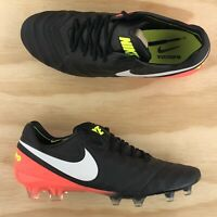 Nike Tiempo Legend VI FG Crimson Black White Soccer Cleats 819177 018 Size