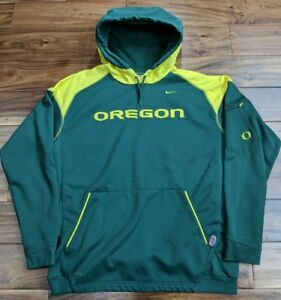 Nike Therma-Fit UNIVERSITY OREGON DUCKS Hoody Hoodie Sweatshirt Jacket Men Large