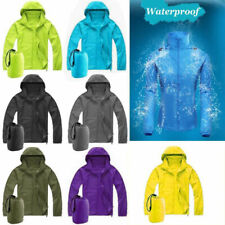 Women Men Waterproof Windproof Outdoor Hooded Jacket Rain Coat Windbreakers Top