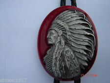 Bolo tie Indian chief design country and western or rock and roll wear