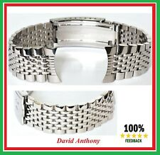 18mm or 20mm BEADS of RICE STYLE STAINLESS STEEL WATCH BRACELET. FOR OMEGA ONLY