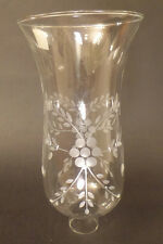 "1 5/8"" Clear Flower Glass Hurricane Lamp Shade Candle Chandelier Light, 5"" x 10"""