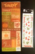 Thanksgiving Fall Autumn Turkey Pumpkin Scrapbook Stickers Paper Studio Cloud9