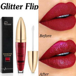 Glitter Liquid Lipstick Matte Waterproof Long Lasting Lip Gloss Colors Diamond