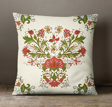 S4Sassy Decorative Multicolor Floral Print Cushion Case Square Pillow Cover