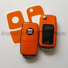 1S_Schlüssel-Dekor Aufkleber SEAT Ibiza Leon Cupra Alhambra orange glänzend