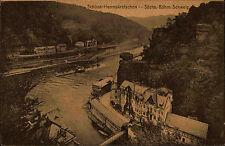 Hřensko Schöna Herrnskretschen Tschechien Česká Böhmen AK ~1910 Panorama Schiffe