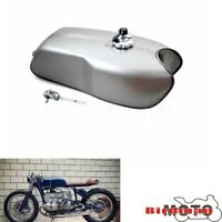 Retro Motorcycle Steel 9L/2.4Gal Gas Fuel Tank  For Yamaha RD50 RD350 Cafe Racer