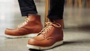 RED WING 6-INCH CLASSIC MOC BOOT ORO LEGACY US MENS SIZES 875