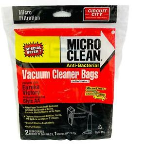 Circuit City Vacuum Cleaner Bags For Eureka Victory Style AA 2 Pack & Filter