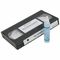 VHS Video Head Cleaner tape and cleaning fluid Wet type