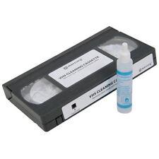 VHS VIDEO HEAD CLEANER nastro e fluido di pulizia tipo umido